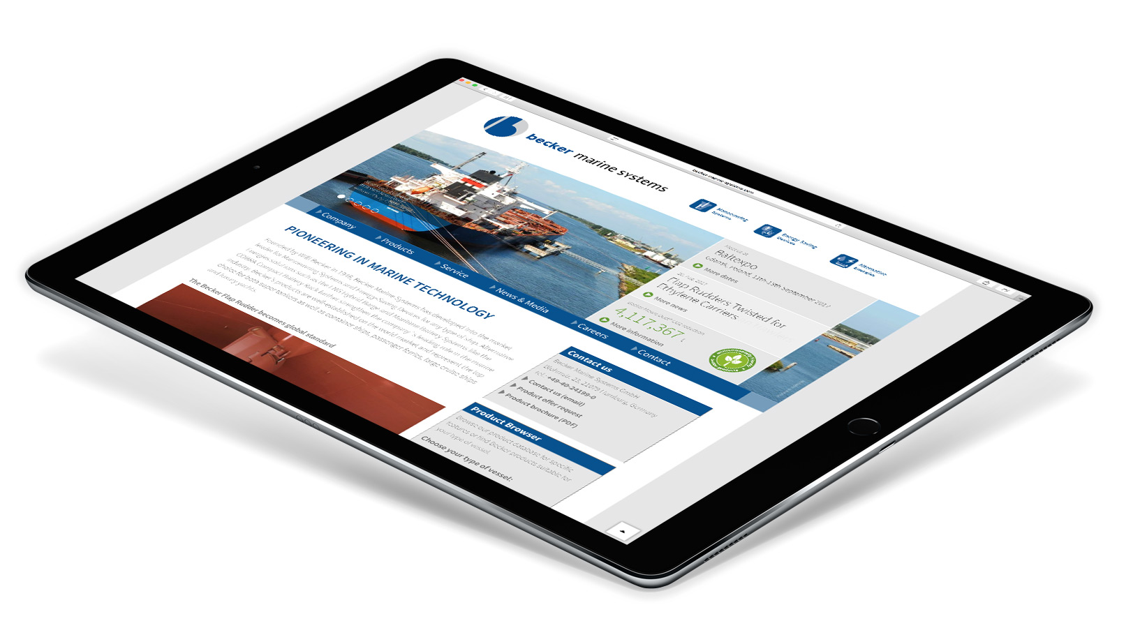 Website Relaunch Becker Marine Systems