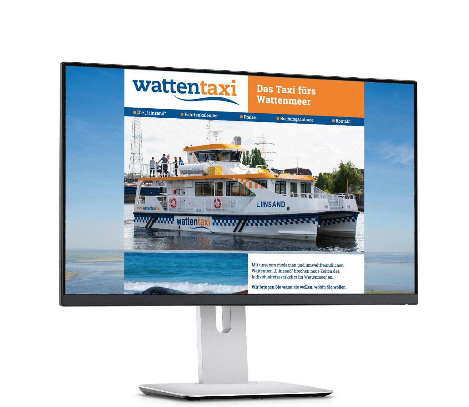 Website des Wattentaxis