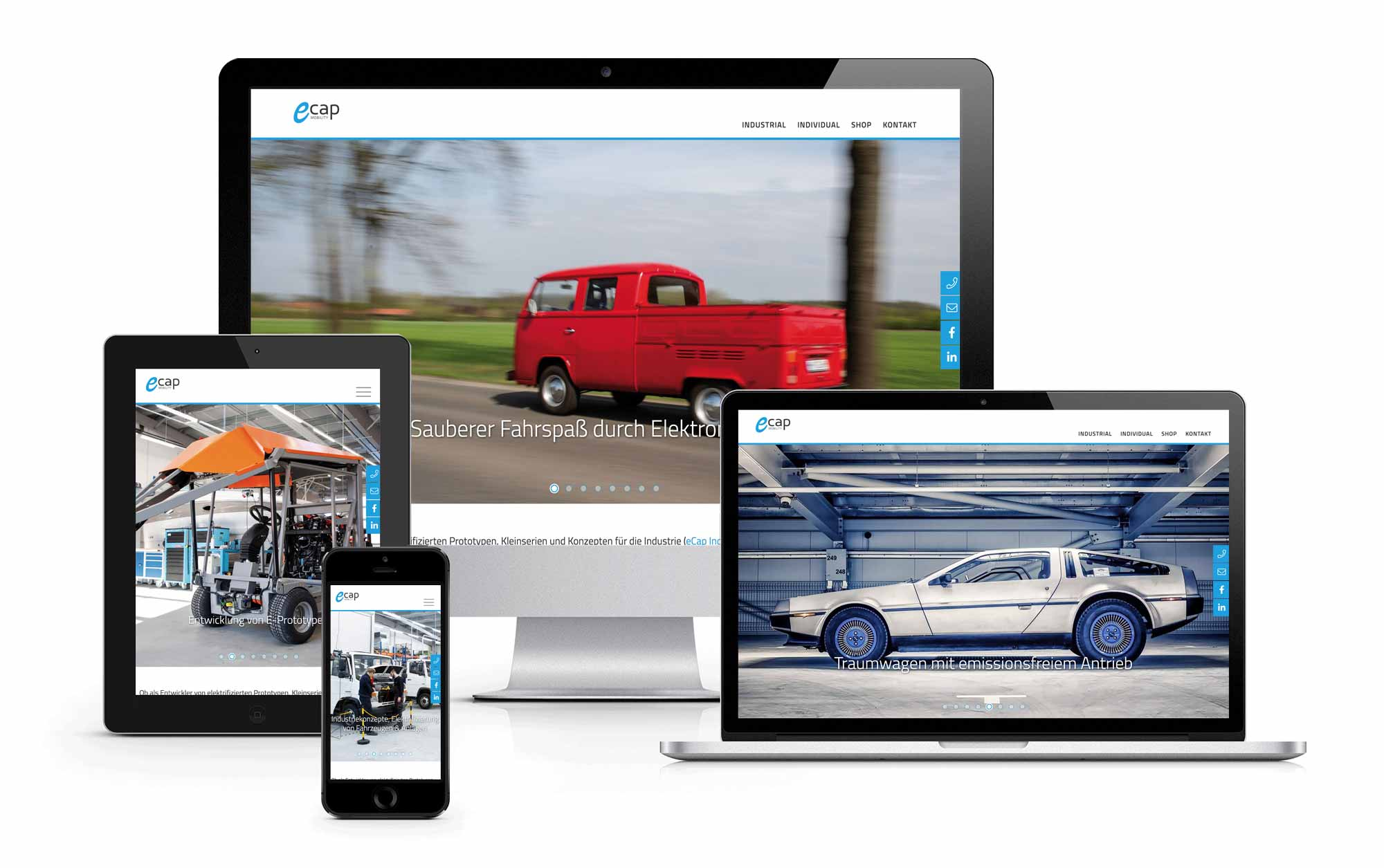 Website Relaunch eCap Mobility